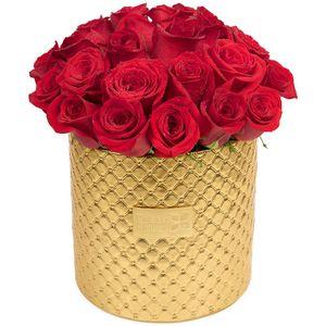 Arreglo Floral Glam Gold  24 Rosas Rojas