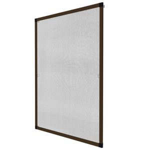 Kit Mosquitero de aluminio marron ajustable hasta 1.30m x 1.60m
