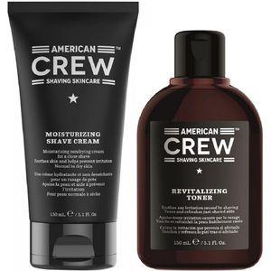 Crema de Afeitar + Loción After Shave American Crew Men