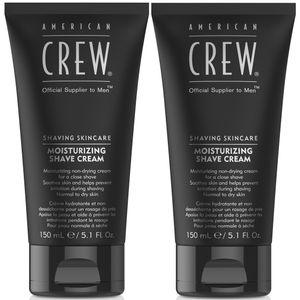 Dúo Crema de Afeitar sin Espuma Moisturizing Shave Cream American Crew Men 150ml