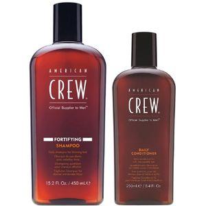 Shampoo Fortalecedor Fortifying 450ml + Acondicionador 250ml American Crew Men