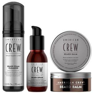 Pack Cuidado de la Barba Beard Espuma + Aceite + Cera American Crew Men