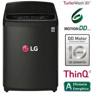Lavadora LG Carga Superior 16Kg WT16BS6H Negro Platino