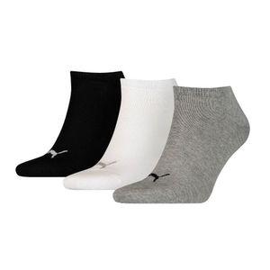 Medias Deportivas Unisex Puma Sneaker Plain 3 Pack Gris/Blanco/Negro Talla 35/38