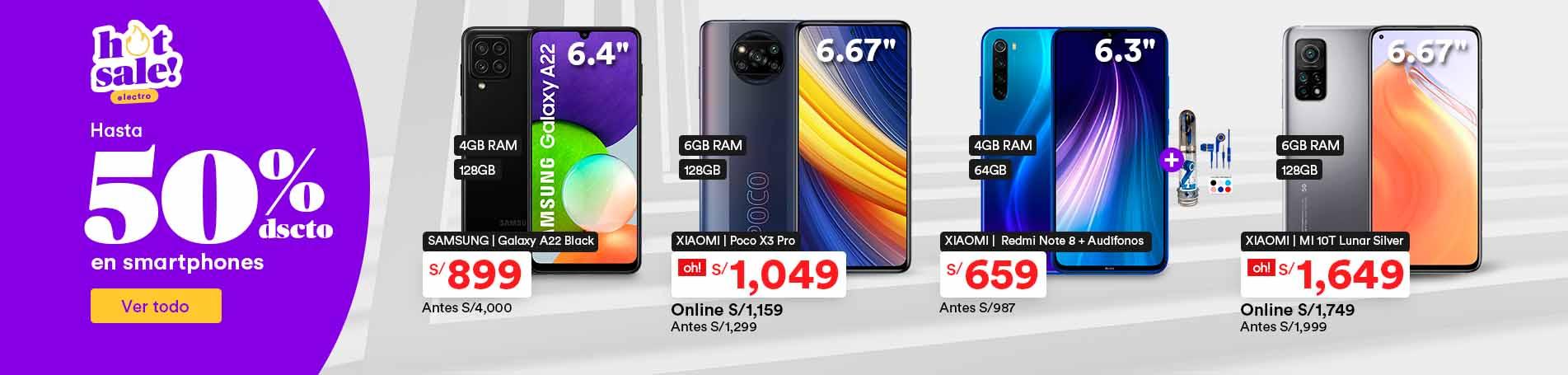 Hasta 50% en smartphones