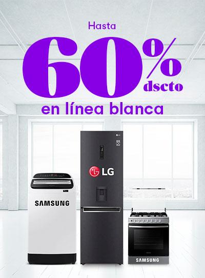 Hasta 60% dsct. en Línea Blanca por Cyber Wow